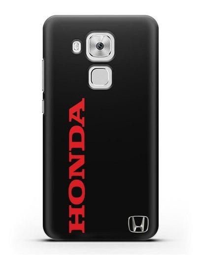 Чехол с надписью Honda и логотипом силикон черный для Huawei Nova Plus