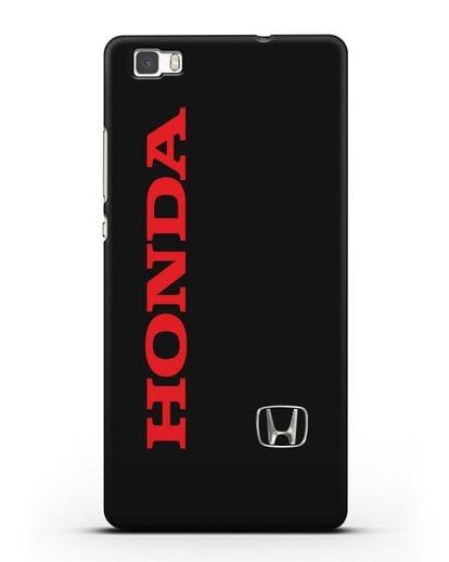 Чехол с надписью Honda и логотипом силикон черный для Huawei P8 Lite