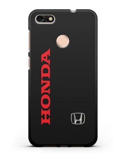 Чехол с надписью Honda и логотипом силикон черный для Huawei P9 Lite mini