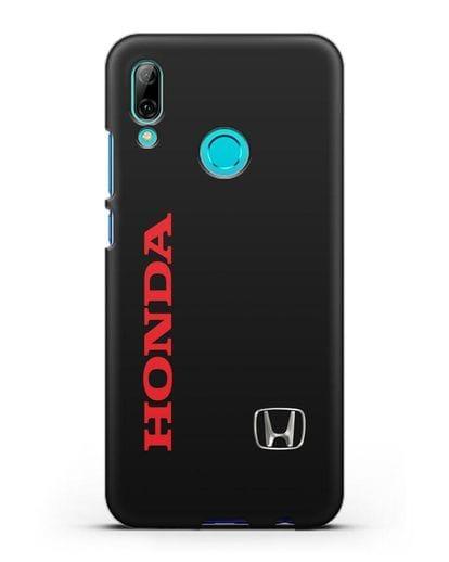 Чехол с надписью Honda и логотипом силикон черный для Huawei P Smart 2019