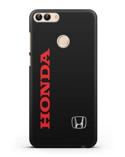 Чехол с надписью Honda и логотипом силикон черный для Huawei P Smart