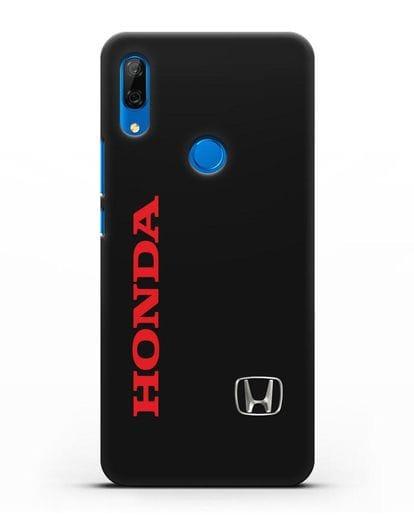 Чехол с надписью Honda и логотипом силикон черный для Huawei P Smart Z