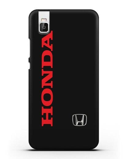 Чехол с надписью Honda и логотипом силикон черный для Huawei Shot X