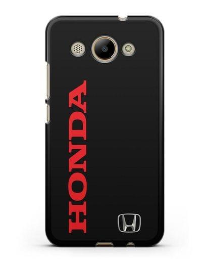Чехол с надписью Honda и логотипом силикон черный для Huawei Y3 2017