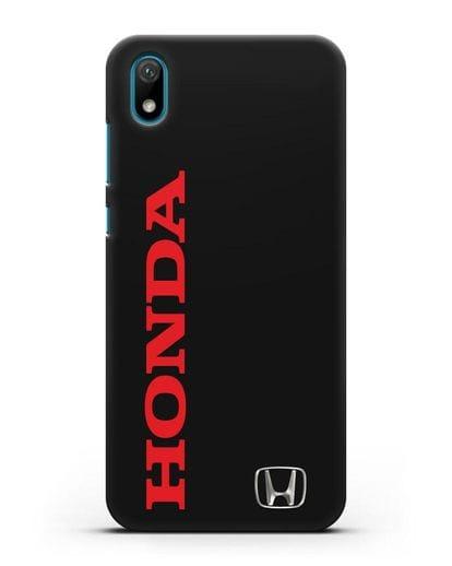 Чехол с надписью Honda и логотипом силикон черный для Huawei Y5 2019