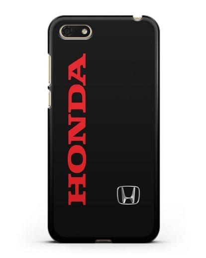 Чехол с надписью Honda и логотипом силикон черный для Huawei Y5 Prime 2018
