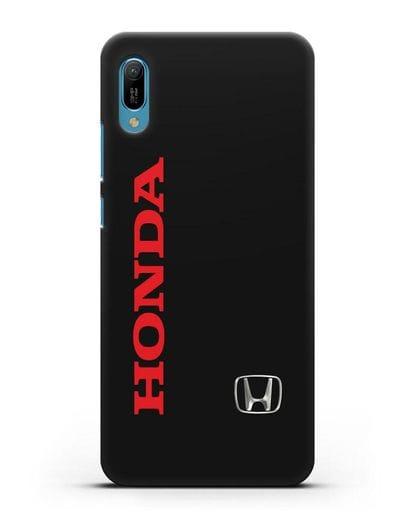 Чехол с надписью Honda и логотипом силикон черный для Huawei Y6 2019