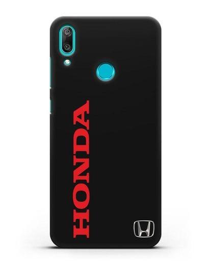 Чехол с надписью Honda и логотипом силикон черный для Huawei Y7 2019