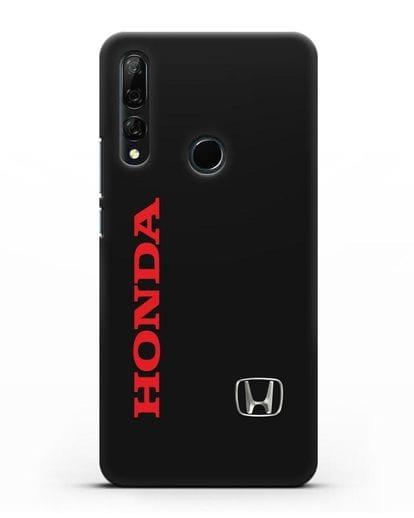 Чехол с надписью Honda и логотипом силикон черный для Huawei Y9 Prime 2019