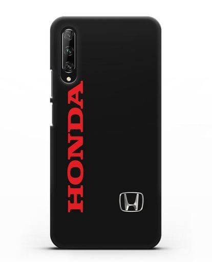 Чехол с надписью Honda и логотипом силикон черный для Huawei Y9s