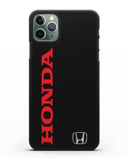 Чехол с надписью Honda и логотипом силикон черный для iPhone 11 Pro