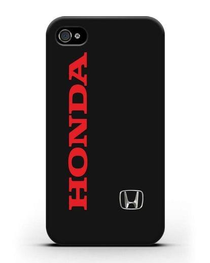 Чехол с надписью Honda и логотипом силикон черный для iPhone 4/4s