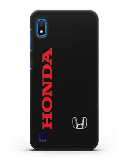 Чехол с надписью Honda и логотипом силикон черный для Samsung Galaxy A10 [SM-A105F]