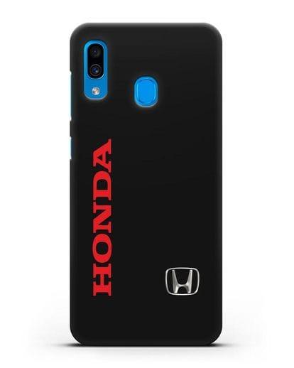 Чехол с надписью Honda и логотипом силикон черный для Samsung Galaxy A30 [SM-A305FN]
