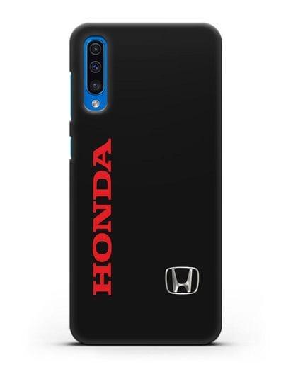 Чехол с надписью Honda и логотипом силикон черный для Samsung Galaxy A50 [SM-A505F]