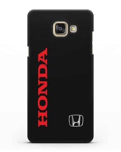 Чехол с надписью Honda и логотипом силикон черный для Samsung Galaxy A7 2016 [SM-A710F]