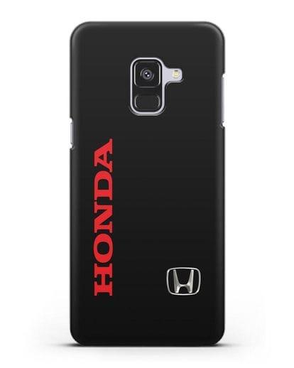 Чехол с надписью Honda и логотипом силикон черный для Samsung Galaxy A8 [SM-A530F]