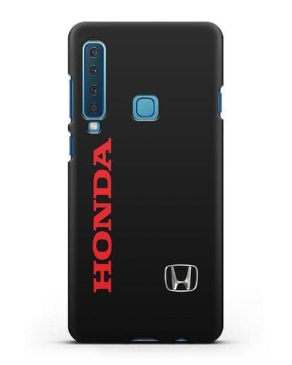 Чехол с надписью Honda и логотипом силикон черный для Samsung Galaxy A9 (2018) [SM-A920]