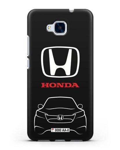 Чехол Honda с номерным знаком силикон черный для Honor 5C