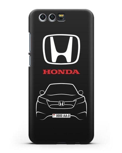 Чехол Honda с номерным знаком силикон черный для Honor 9