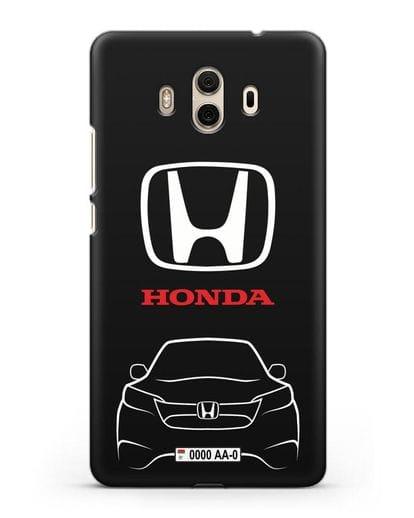 Чехол Honda с номерным знаком силикон черный для Huawei Mate 10