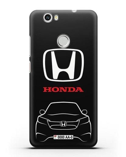 Чехол Honda с номерным знаком силикон черный для Huawei Nova