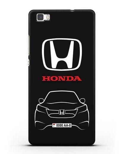 Чехол Honda с номерным знаком силикон черный для Huawei P8 Lite