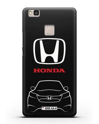 Чехол Honda с номерным знаком силикон черный для Huawei P9 Lite