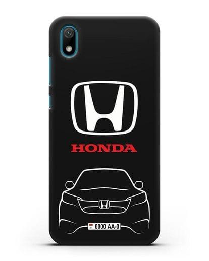 Чехол Honda с номерным знаком силикон черный для Huawei Y5 2019