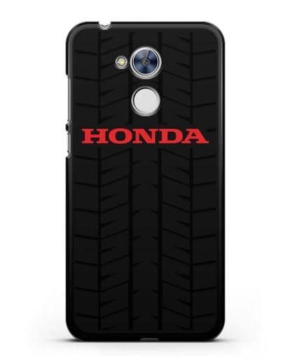 Чехол с логотипом Хонда с протектором шин силикон черный для Honor 6A