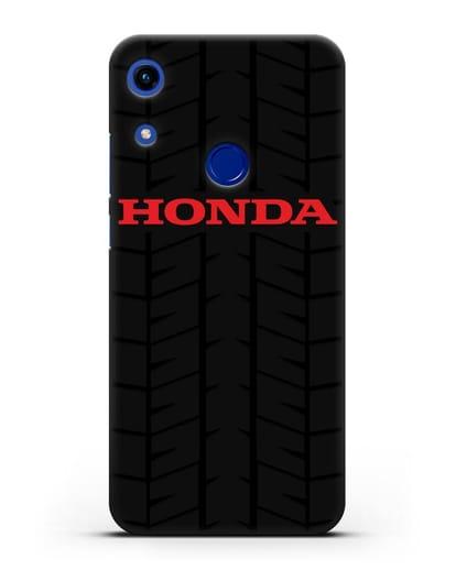 Чехол с логотипом Хонда с протектором шин силикон черный для Honor 8A