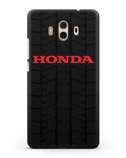 Чехол с логотипом Хонда с протектором шин силикон черный для Huawei Mate 10