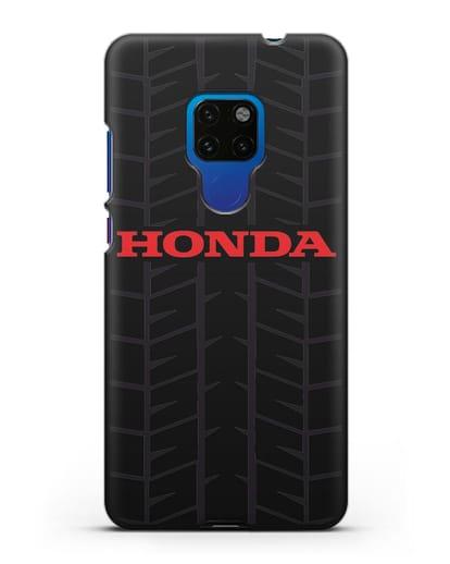 Чехол с логотипом Хонда с протектором шин силикон черный для Huawei Mate 20