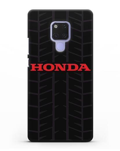 Чехол с логотипом Хонда с протектором шин силикон черный для Huawei Mate 20X