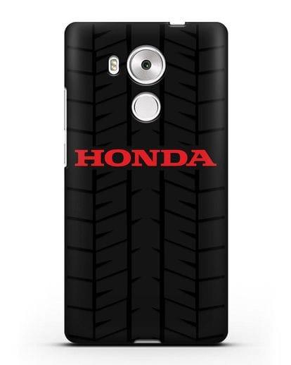 Чехол с логотипом Хонда с протектором шин силикон черный для Huawei Mate 8