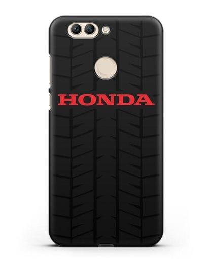 Чехол с логотипом Хонда с протектором шин силикон черный для Huawei Nova 2 Plus
