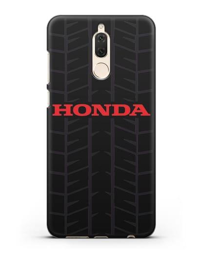 Чехол с логотипом Хонда с протектором шин силикон черный для Huawei Nova 2
