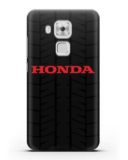 Чехол с логотипом Хонда с протектором шин силикон черный для Huawei Nova Plus