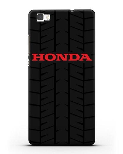 Чехол с логотипом Хонда с протектором шин силикон черный для Huawei P8 Lite