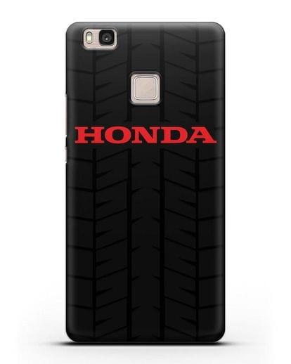 Чехол с логотипом Хонда с протектором шин силикон черный для Huawei P9 Lite