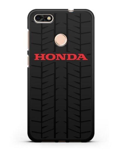 Чехол с логотипом Хонда с протектором шин силикон черный для Huawei P9 Lite mini