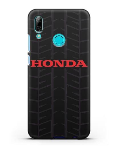Чехол с логотипом Хонда с протектором шин силикон черный для Huawei P Smart 2019