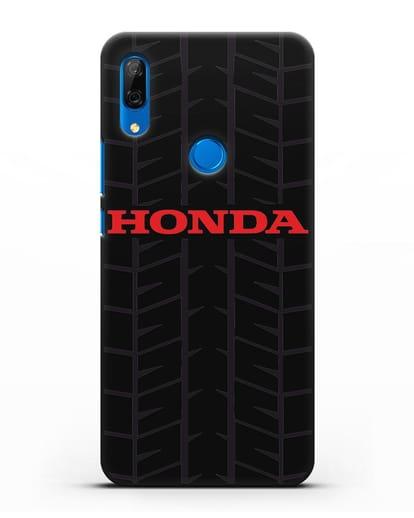 Чехол с логотипом Хонда с протектором шин силикон черный для Huawei P Smart Z