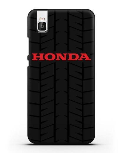 Чехол с логотипом Хонда с протектором шин силикон черный для Huawei Shot X
