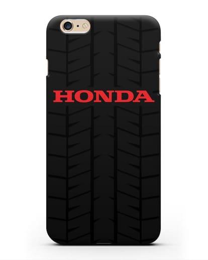 Чехол с логотипом Хонда с протектором шин силикон черный для iPhone 6s Plus