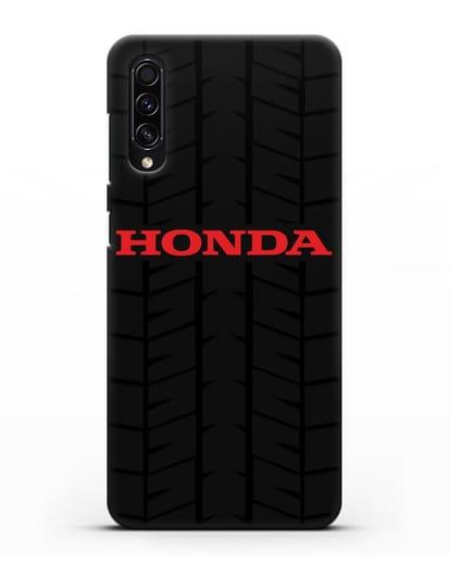 Чехол с логотипом Хонда с протектором шин силикон черный для Samsung Galaxy A50s [SM-F507FN]