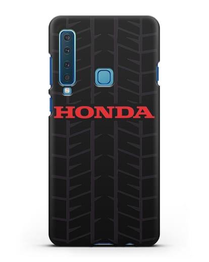 Чехол с логотипом Хонда с протектором шин силикон черный для Samsung Galaxy A9 (2018) [SM-A920]