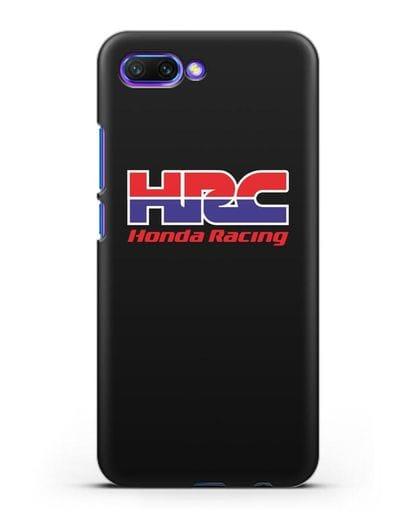 Чехол с надписью Honda Racing силикон черный для Honor 10