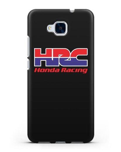 Чехол с надписью Honda Racing силикон черный для Honor 5C