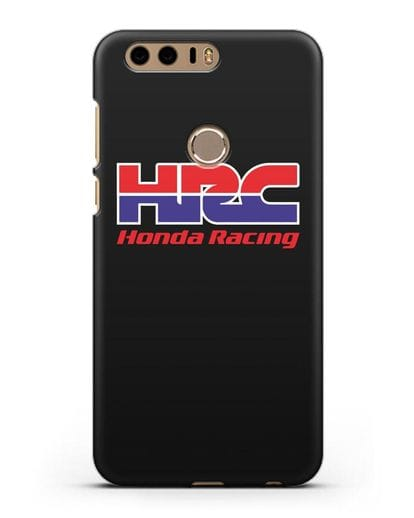 Чехол с надписью Honda Racing силикон черный для Honor 8